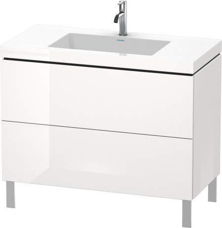 Duravit Duravit Waschtischunterbau L-CUBE mit Waschtisch Vero Air, 698 x 1000 x 480 mm ohne Hahnloch weiß hochglanz