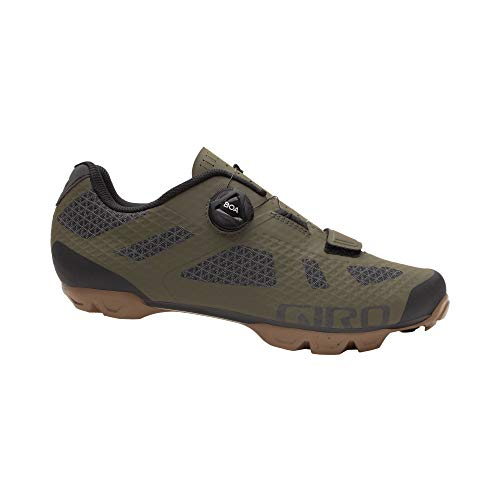 Giro Rincon Men's Mountain Cycling Shoes - Olive/Gum (2021) - Size 46