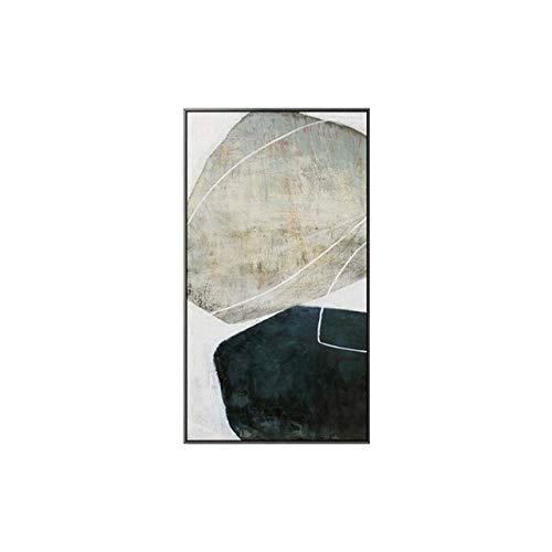 XUML minimalistische grote grootte zwart en wit Canvas schilderij Poster Print voor Hotel Aisle woonkamer s decoratie Wall Art 20x38cm (No Frame) A