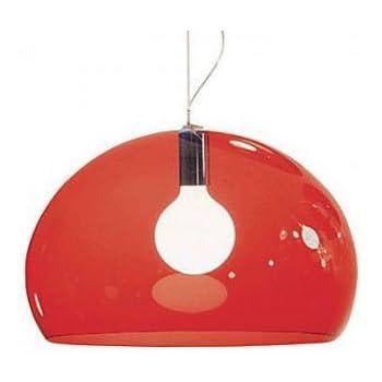 Kartell 9030K3 FL/Y Lampada, Rosso trasparente, Plastica, madreperla