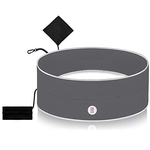 FitFeelsFun® Breiter Laufgürtel mit wasserdichtem Innenfach und Geldtasche - für Handy Geld Schlüssel - Bauch-Tasche Handyhalter-ung zum Joggen Laufen Sport