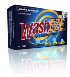 WashEZE 3 in 1 Laundry Detergent Sheets, Scented 120 Count includes All of Your Laundry Needs!