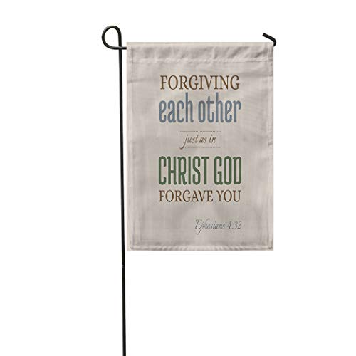 Meofo Scripture Garden Flag Double Sided for Or Catholic About Forgive Forgave You Printable Flying T Soft Durable Outdoor Banner Courtyard Farm Home Yard Lucky Corridor Decoration 12X18