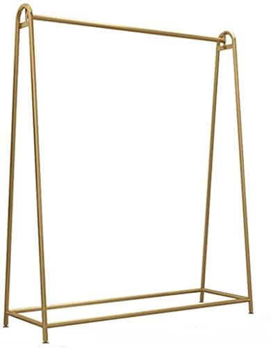 Wytrzymały drążek na ubrania, z suszarką, stojak na suszenie, stojak na suszenie, stojak na wystawę, metalowa spódniczka tutu / złota/120 × 40 × 140 cm.