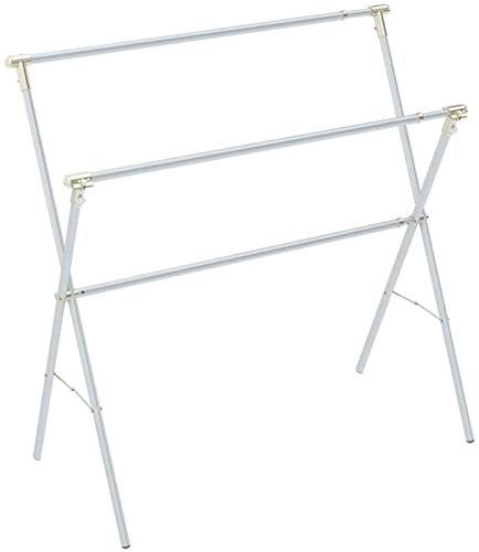 Home Equipment Electric Heated Clothes Airer Dryer Clothes Airer Folding Drying Rack Double Pole Telescopic Drying Rack X type Clothes Drying Rack (Color : Silver Size : 130x130 240cm) Stainless St