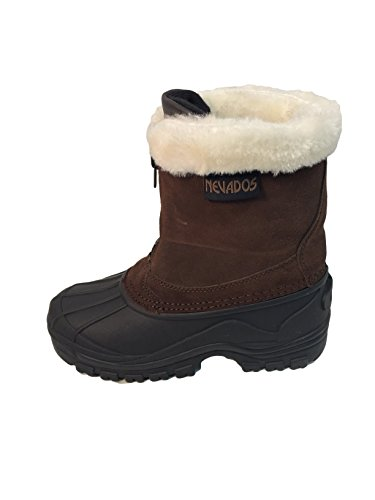 Nevados Womens Solstice Suede Faux Fur Winter Boots Brown 8 Medium (B,M)