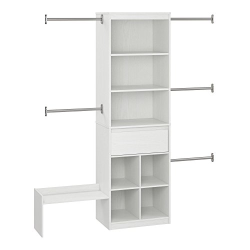 Little Seeds Grow with Me White Adjustable Kids Closet Organizer System
