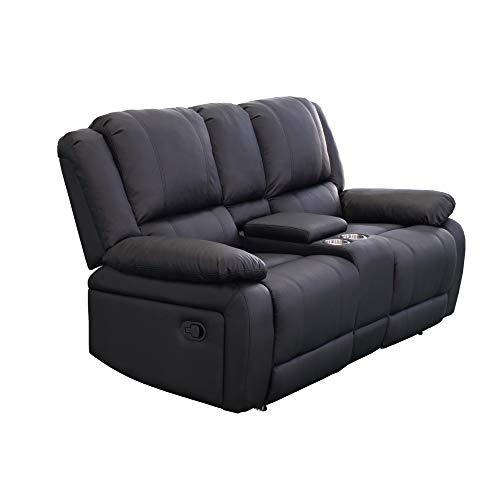 LD-Handel 2er Couch Kinosessel Sofa Cinemasessel Wohnzimmer Fernsehsessel Cupholder Sessel SJCF-8017