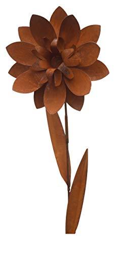 Bornhöft Riesen Gartenstecker Blume 165cm x 42cm Gartendeko Edelrost rostige Deko
