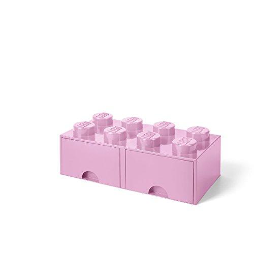 LEGO Storage 8 Brick Toy Box, Light Purple