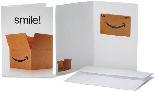 Amazon.com $75 Gift Card in a Greeting Card (Smile! Design)
