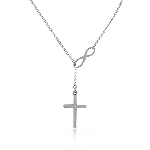 My Daily Styles 925 Sterling Silver Infinity Cross Religious Pendant Necklace