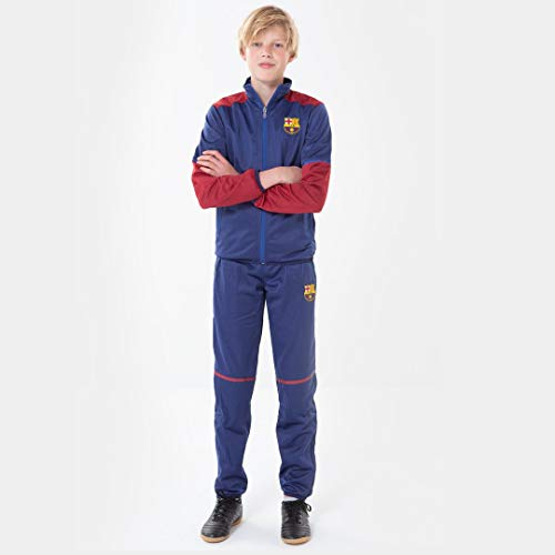 Morefootballs - Offizieller FC Barcelona Trainingsanzug für Kinder - 2020/2021 - Größe: 140 - Langarm FCB Trainingsjacke und Jogginghose - Jacke und Hose für Fussball Training
