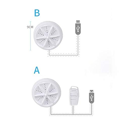 nobrand Mini Ultraschall-Waschmaschine beweglich Turbo Personal Rotating Washer bequemer Reise-Home Business Travel USB (Color : A)