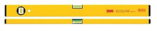 BMI waterpas L.180 cm aluminium Geel - 689180Pgelbeco