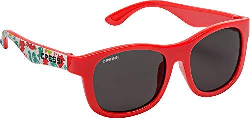 Cressi Teddy Sunglasses Gafas de Sol para niños, Juventud Unisex, Mascota de Agua/Rojo/Lente Ahumada, 3/5 Años