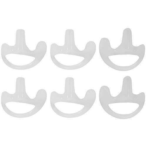 BOINN 3 Pares Auricular Suave de Silicona Transparente para walkie Talkie encubierta acustica del Auricular del Tubo Pequeno/Medio/Grande J6116Z