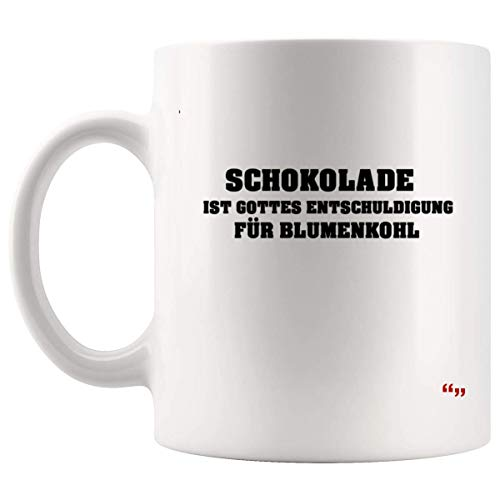 Not Applicable Jokes Mug - Funny Gift for Men Women Coffee Cup Chocolate Fun Schokolade Blumenkohl Motiavtional Gifts