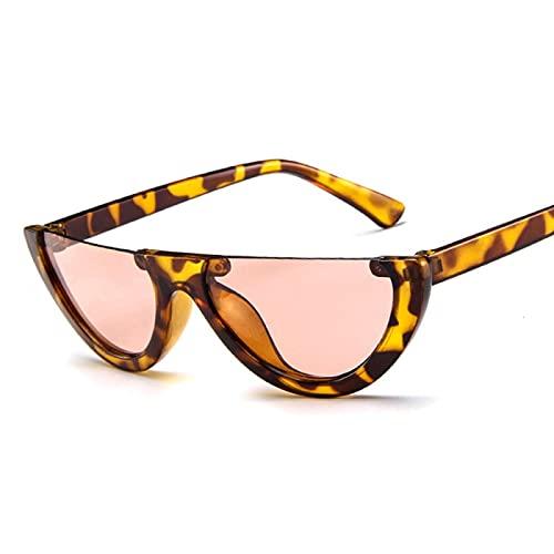 Sunglasses Gafas de Sol de Moda Gafas De Sol Pequeñas con Montura De Ojo De Gato para Mujer Uv400 Blanco Vintage Gafas D