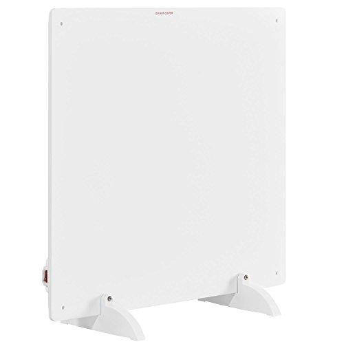 Juskys Infrarotheizung 425 Watt mit Überhitzungsschutz, Stromkabel & Standfüßen | weiß | Infrarot Heizpaneel Wandheizung Elektroheizung Heizkörper