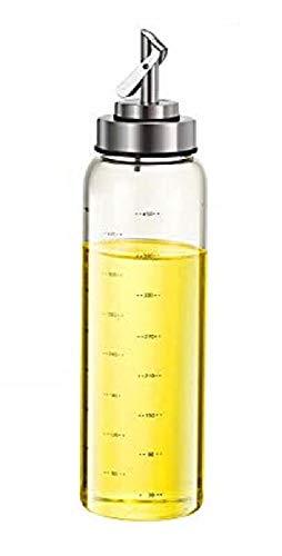 家庭キッチン用 ガラス オイルボトル オイルポット 醤油ボトル 酢ボトル 漏れ止め 防塵 500ML