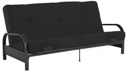 Black Mainstay 6 Tufted Futon Mattress