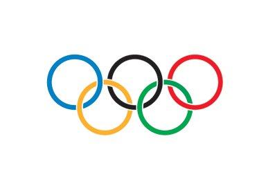 Flagge mit Motiv Olympischen Ringe 90 x 150 cm
