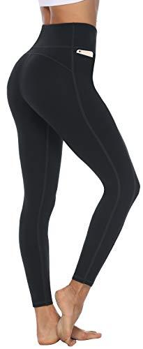 Persit Sporthose Damen, Sport Leggins für Damen Yoga Leggings Yogahose Sportleggins, Schwarz, 44 (Herstellergröße: XL)