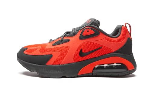 Nike Men's Air Max 200 Running Sneakers (8.5, Habanero Red/Oil Grey)