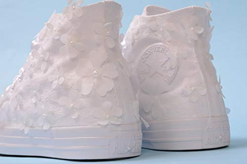 High Top Ivory Wedding Sneakers For