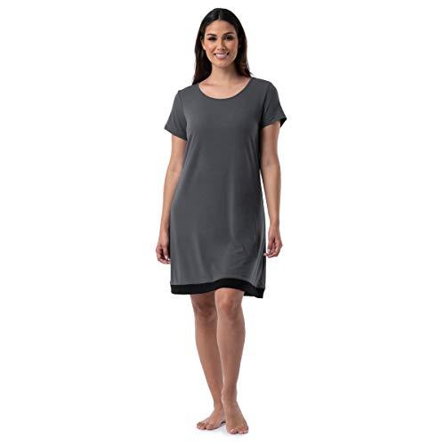 Fruit of the Loom Women's Plus Size Super Breathable Sleep Shirt, Soft Grey, 2X