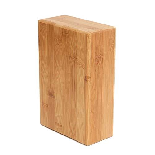 Huntforgold Yoga Block Bambus Yogablock Handstand Block, Stützziegel, um die Posen zu Vertiefen, Stärke und Gleichgewicht und Flexibilität zu Verbessern, Ungiftig, Geruchlos und Wasserfest