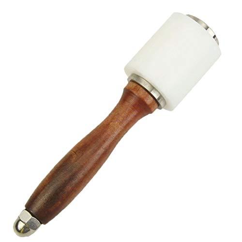 Schnitzen Nylon Hammer Stärken Holz Schneidwerkzeuge DIY Nylon Hammer Mit Holzgriff Leder Schnitzhammer Zum Gravieren Und Bohren DIY Handwerk Stanzen DIY Handwerk Hämmer Leder Schnitzen