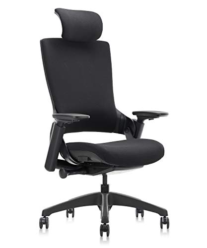 CLATINA Ergonomic High Swivel Executive Chair with Adjustable Height Head 3D Arm Rest Lumbar Support...