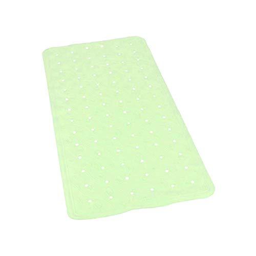 1MI Unishop Alfombra de Bañera y Ducha Antideslizante, Alfombrilla de Baño con Ventosas y Superficie Rugosa, de Colores Pastel (Verde, 36x76cm)