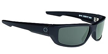 Spy Optic Dirty MO Sunglasses Soft Matte Black/Signature Happy Gray/Green Polar 59 mm