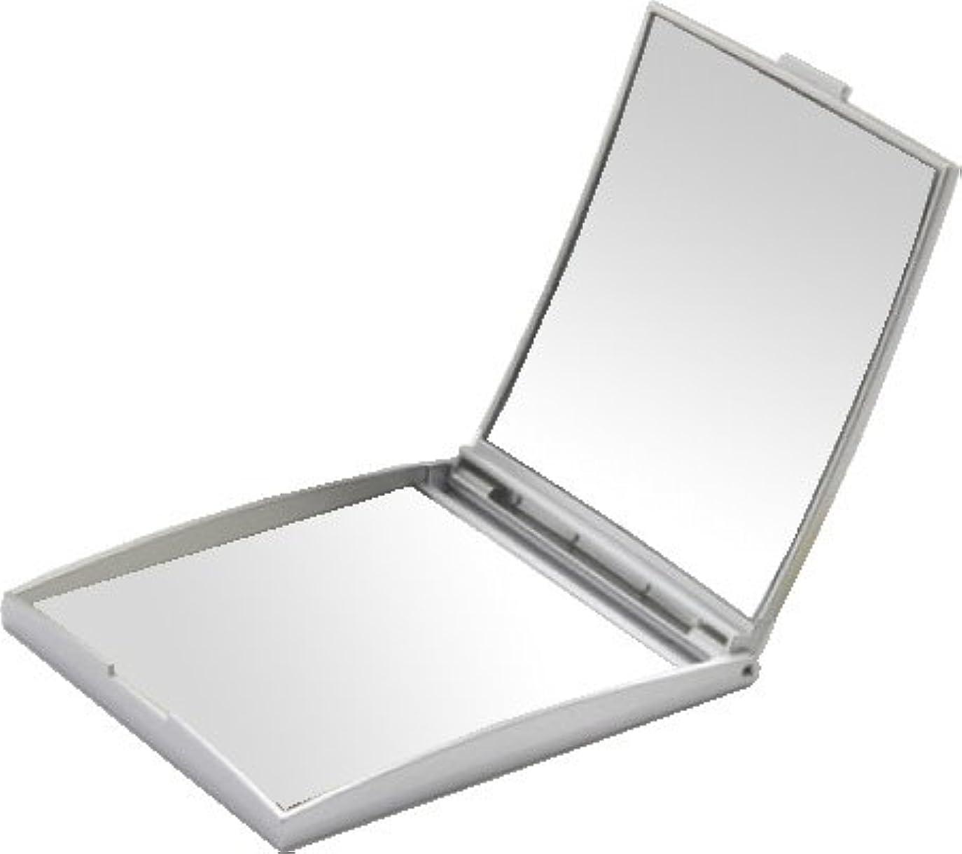 虹スイ反逆メリー 片面約5倍拡大鏡付コンパクトミラー Sサイズ シルバー AD-105