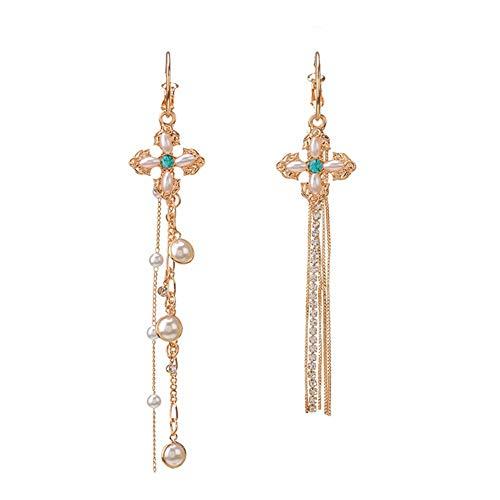 Jadpes Fashion Charme lange kwast oorbellen, vrouwen vrouwelijkheid veelzijdig kruis lange ketting oorbellen decoratieve sieraden geschenken
