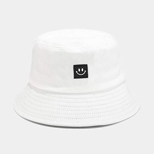 Sombrero De Copa Bucket Hat Hombres Mujeres Bucket Cap Print Smile Face Sombrero Sólido Hip Hop Sombrero Al...