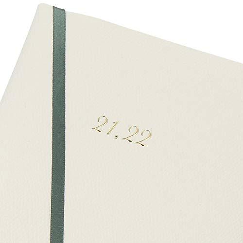 【デルフォニックス手帳2021-2022年版/2021年3月始まり】B6マンスリーコンソナントホワイト