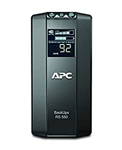 APC by Schneider Electric Back UPS PRO - BR550GI - USV 550VA Leistung (Stromsparfunktion, IEC - Kaltgeräte Ausgänge, Multifunktionsdisplay, inkl. 150.000 Euro Geräteschutzversicherung)