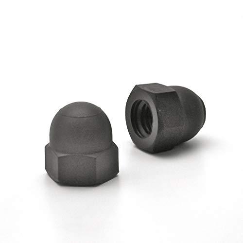 Ajile Kunststoff Hutmutter DIN1587 Schutz Mutter Isolierend aus Polyamid SCHWARZ mit 6 mm M6 Metrisches Innengewinde für 10 mm Schlüssel - 20 Stücke - UBO106x20-FBA
