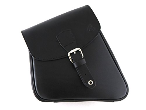 Custom Style sacoche en cuir noir compatible avec châssis Sportster Harley Davidson
