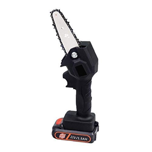 Gracy Mini Motosierra eléctrica Sierra tronzadora sin Cable eléctrico de la Motosierra de Las Frutas de Madera de poda de árbol de Registro, Herramientas eléctricas
