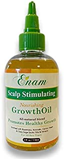 Enam Scalp Stimulating & Nourishing Hair Oil | 100% Natural Growth Treatment | Nourishes Dry Damaged Hair and Scalp | Hair...