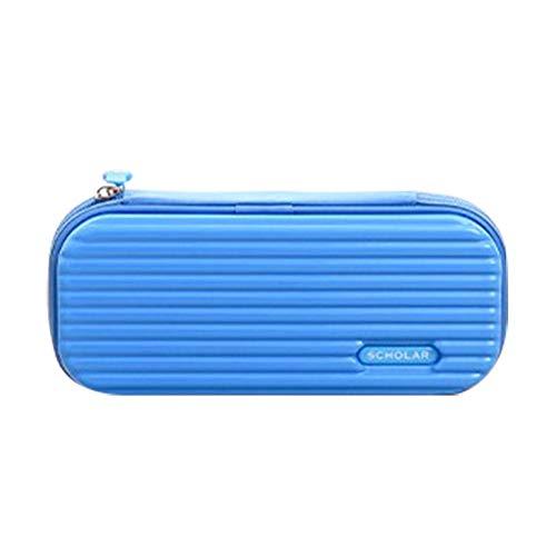 Demarkt Draagbare etui voor kinderen, grote capaciteit voor meisjes, jongens, tieners 22.8×4.9×10.5cm blauw