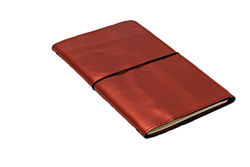 LOUISE CARMEN(ルイーズカルメン) 手帳 ノートカバー フランス製 高級本革 手作りA5スリムサイズ トラベルサイズ レッド