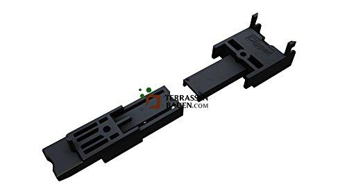 K&R Terracon Clipper für Dielen 120-150mm breit, für Dielen ab 20-24mm, mit Schrauben, 50 Stück