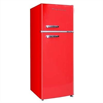 Frigidaire EFR753-Red, 2 Door Apartment Size Refrigerator with Freezer, 7.5 cu ft, Retro, Red