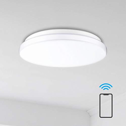 Linkind Smart LED Deckenlampe, 28W 3000lm dimmbare Deckenbeleuchtung, Ø40CM Deckenleuchte, kompatibel mit Philips Hue and Alexa(Hub erforderlich)